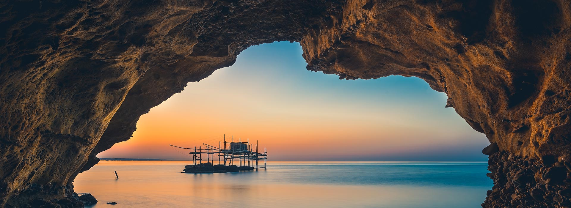 The Trabocchi on the Abruzzese sea